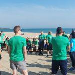 Beam Suntory employees at Oak Street Beach Adopt-a-Beach cleanup
