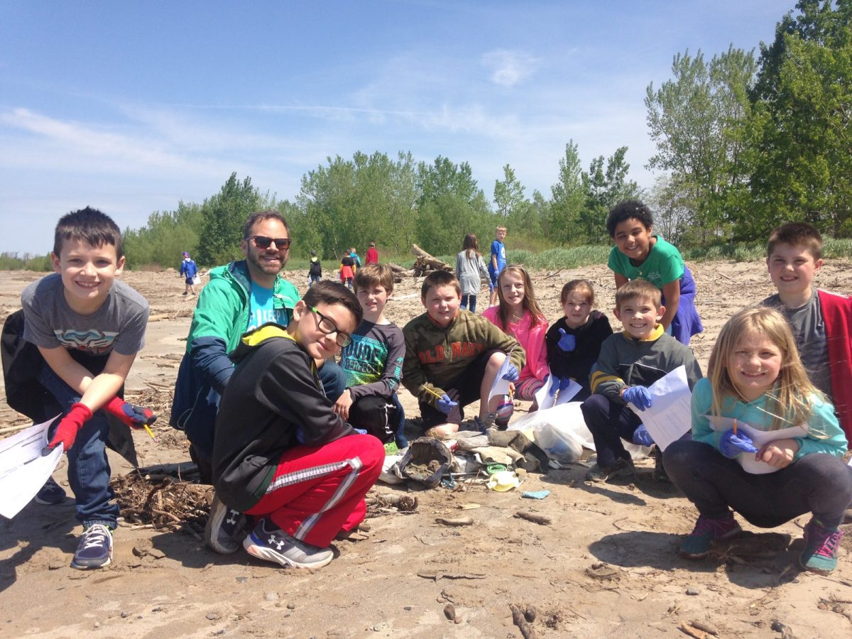 Students from Immaculate Conception school visited Woodlawn Beach State Park in New York