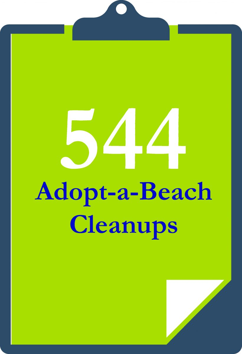 There were 544 Adopt-a-Beach cleanups all around the Great Lakes in 2017.