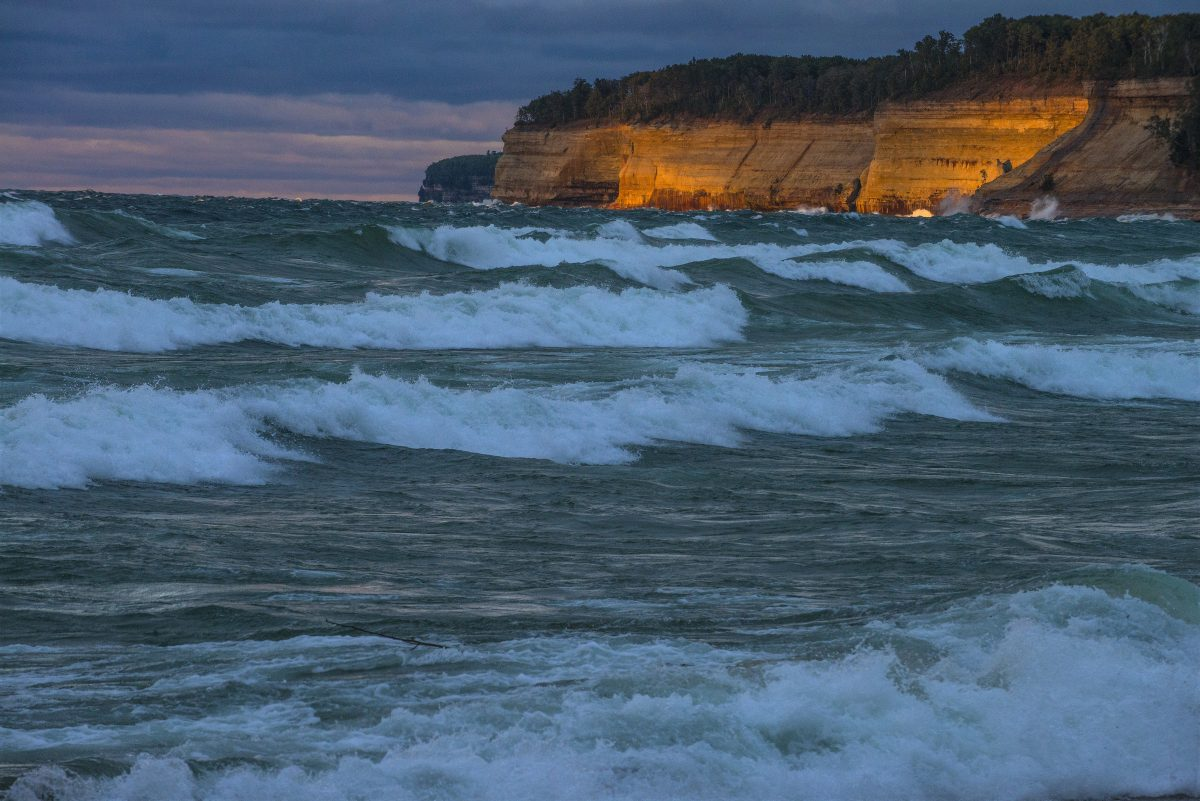 Lake Superior's Pictured Rocks by Lloyd DeGrane