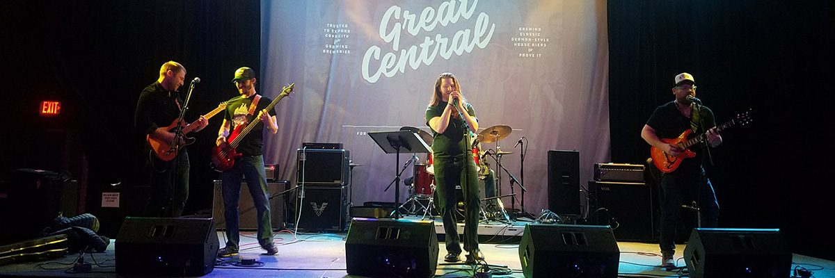 Brewers from Great Central Brewing Company take to the stage