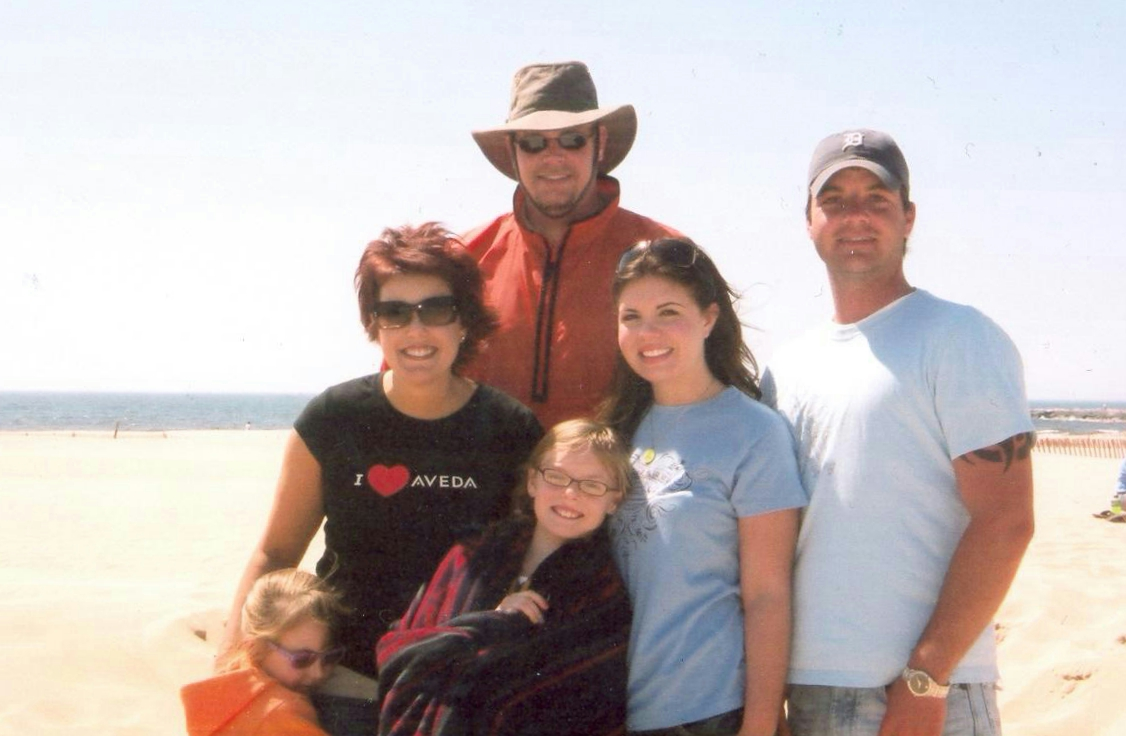 An Aveda Adopt-a-Beach cleanup at Pere Martquette Park, MI in 2007.