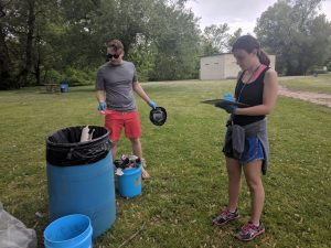 Volunteers clean up Woodlawn State Park Beach