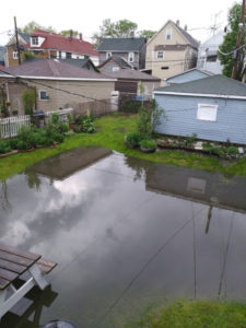 Flooding in Chicago backyard