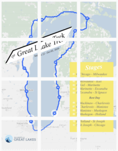 Map of Tristyn Von Berg's ride around Lake Michigan