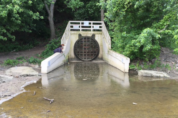 Sewer outfall in Cleveland